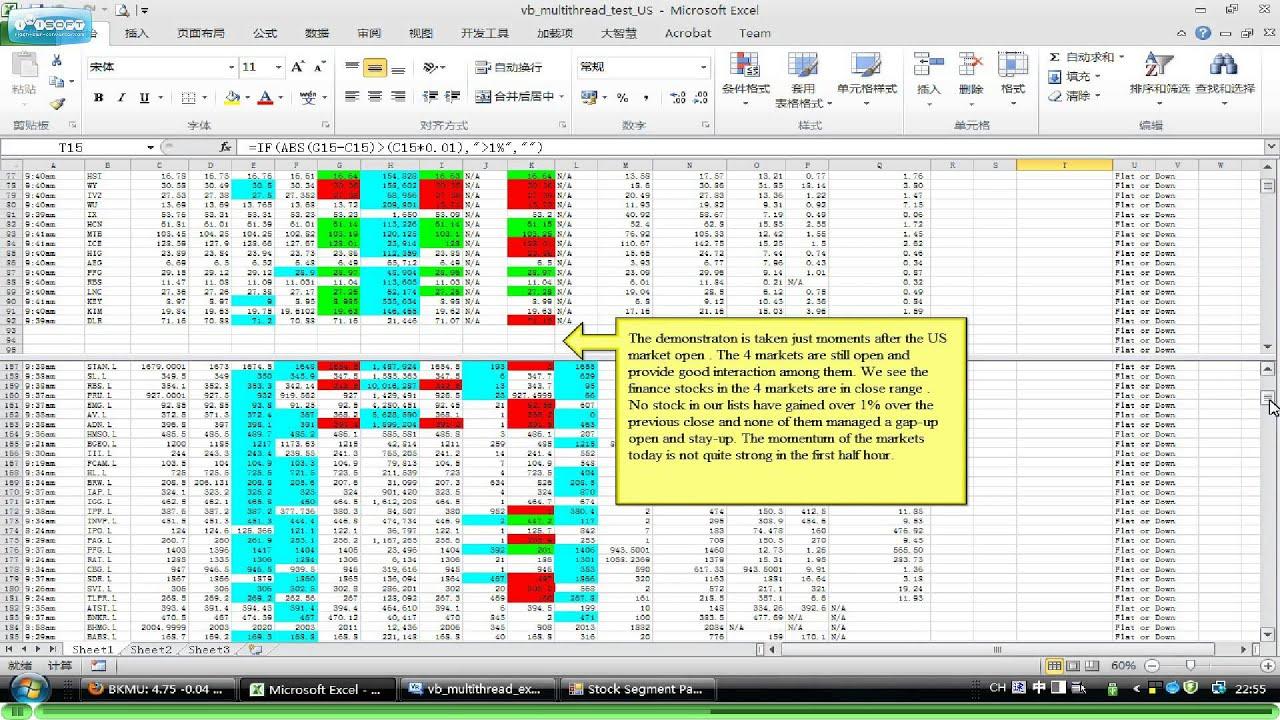 免費跨市場實時股票異動監察(美股篇)(Cross-market Stock Segment Monitor )(US & Europe) - YouTube