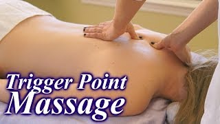 How To Do Trigger Point Massage Therapy Techniques, Back Pain Relief Massage ASMR