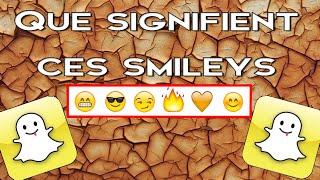 La signification des smileys à côté des noms de vos amis | Snapchat