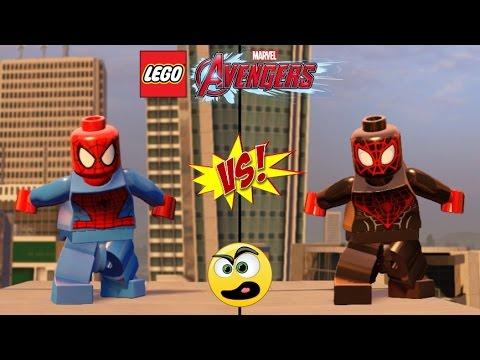 LEGO Vingadores Homem Aranha (Peter Parker) VS Homem Aranha (Miles Morales) Batalha de Heróis #15