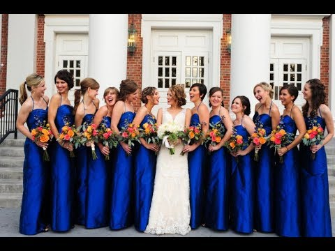Blue Bridesmaid Dresses & Gowns