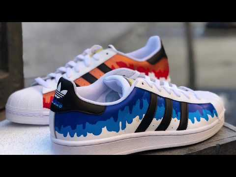 "Adidas superstar ""Drip"" custom DIY"