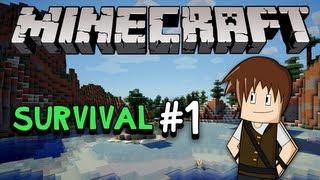 Minecraft Survival #1: Sobrevivendo à primeira noite!