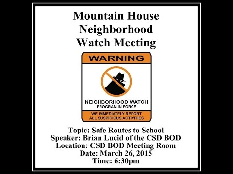 MH Neighborhood Watch - Safe Routes To School