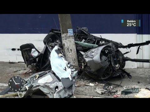 Polícia investiga acidente que matou piloto de kart e namorada   SBT Notícias (13/11/17)
