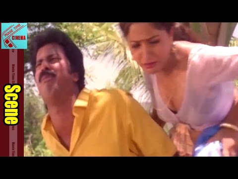 Raja Ravindra & Paternal cousin || Pedarayudu Movie || Mohan Babu, Rajinikanth, Soundarya