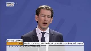 Pressekonferenz mit Angela Merkel und Sebastian Kurz vom 17.01.2018