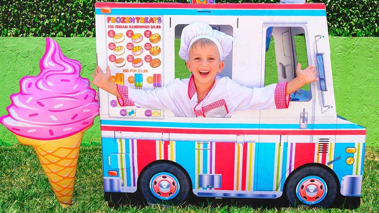 Vlad And Nikita Play With Ice Cream Delivery Truck Youtube