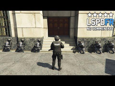 GTA 5 SWAT NOOSE Patrol - Armed Pacific Bank Heist With Hostages! (LSPDFR GAMEPLAY)
