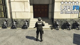 GTA 5 SWAT NOOSE Patrol - Armed Pacific Bank Heist with Hostages! (LSPDFR GAMEPLAY)
