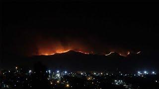 Incendios en Córdoba: el fuego en las Sierras, en un impactante timelapse registrado desde la ciudad