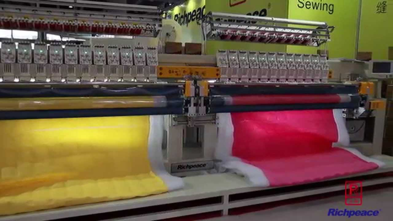 Richpeace Computerized Quilting & Embroidery Machine - Double Roll ... : embroidery quilting machine - Adamdwight.com