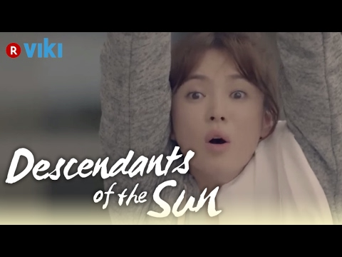 descendants-of-the-sun---ep2-|-song-hye-kyo-wearing-no-makeup-in-front-of-song-joong-ki-[eng-sub]