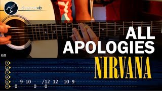"Cómo tocar ""All Apologies"" de Nirvana en guitarra Acústica (HD) Tutorial - Christianvib"