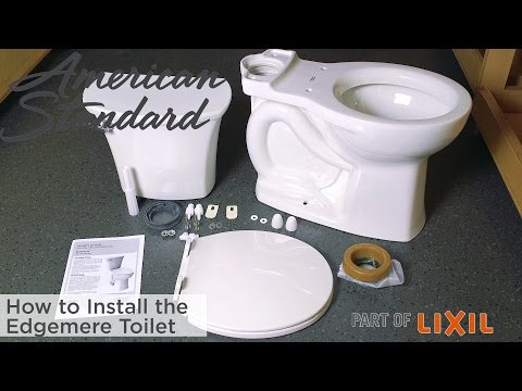 How To Install The Edgemere Toilet From American Standard