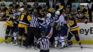 Tempers flare after Malkin's high hit on Wheeler