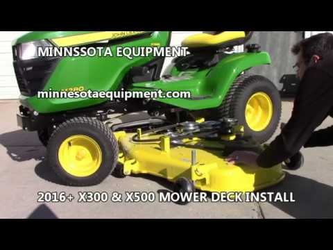 MOWER DECK INSTALL on 2016+ JOHN DEERE X300 & X500 Series