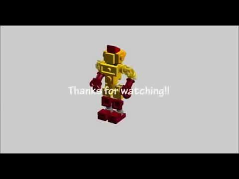 how to build lego real steel mini midas gold version stop motion