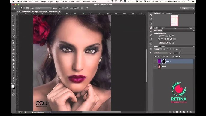 Tutorial Photoshop Cs5 Trabajando Con Capas 1 3 Youtube