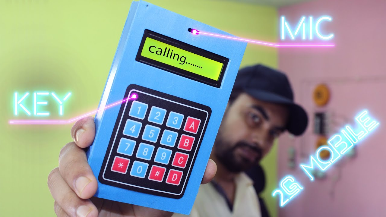 how to make keypad mobile phone at home