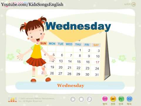 "Kids Songs English : ""In a Week"" Sunday Monday Tuesday Wednesday Thursday Friday Saturday"