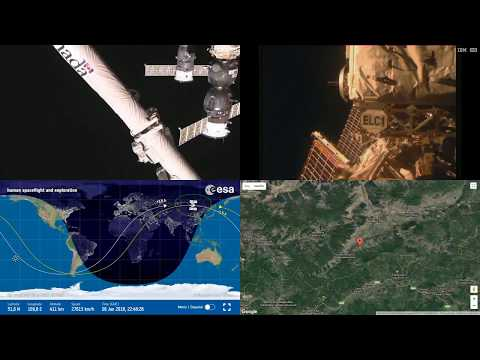 Orbital Sunrise Over Asia - ISS Space Station Earth View LIVE NASA/ESA Cameras And Map - 19