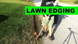 Gambar cover How to edge your lawn along the road