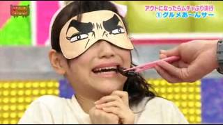 AKBINGO 高橋朱里 罰ゲーム 顔面ゴムパッチン ⇒ http://youtu.be/E6tCCC...