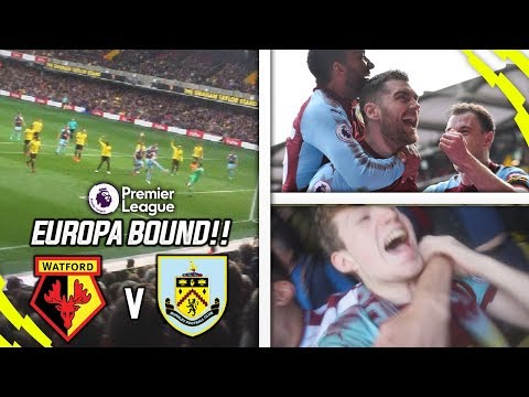 EUROPA LEAGUE IS IN OUR HANDS!! - WATFORD 1-2 BURNLEY AWAY DAY VLOG!!