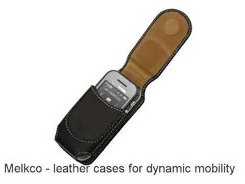 Melkco Tasche Leder Etui cuir ~Samsung Glyde SCH-U940 Universal Vertical Pouch (Black) - Small