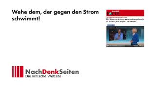 Wehe dem, der gegen den Strom schwimmt!   Jens Berger   NachDenkSeiten-Podcast