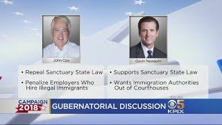 California Gubernatorial Candidates, Newsom, Cox Have Mostly Civil Discussion In Sole Debate