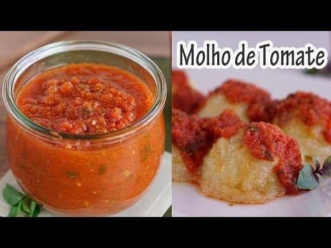 MOLHO DE TOMATE CASEIRO (de liquidificador) I Receitas e Temperos