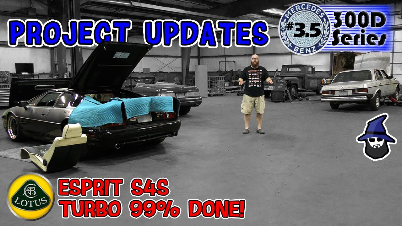 Major Lotus Esprit S4S overhaul 99% done & CAR WIZARD is busy swapping parts on MB 300D restore