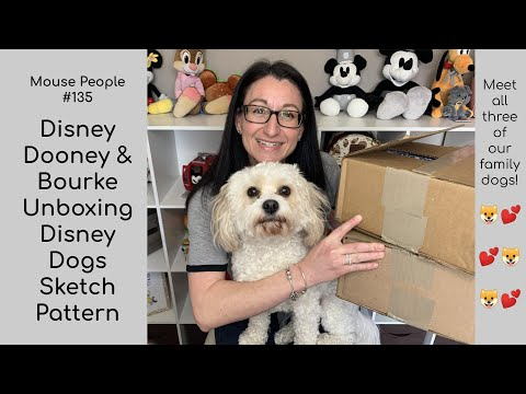 Disney Dooney & Bourke Bag Unboxing | Disney Dogs Sketch Pattern Purse #135 Ambler | Cosmetic
