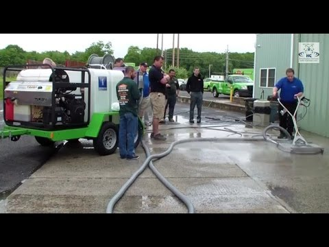 SERVPRO training day: hot water pressure washer trailer with wastewater recycling & accessories.