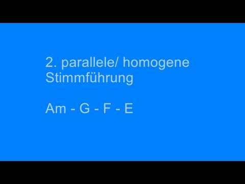Stimmführung parallel  homogen Kadenz Harmonielehre