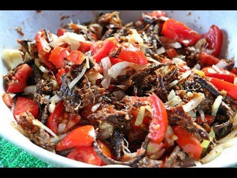 Smoked Herring Choka (salad) #TastyTuesday   CaribbeanPot.com