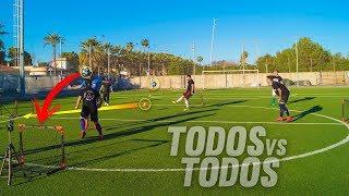 TODOS VS TODOS ¿Con 3 BALONES? ¡Retos de Fútbol! BRUTAL!!!