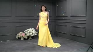 Silk Like Chiffon & Stretch Satin Prom Dress- Adasbridal (SOD43871)