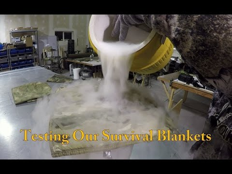 Testing Moisture Handling in our Survival Blankets   PSB series