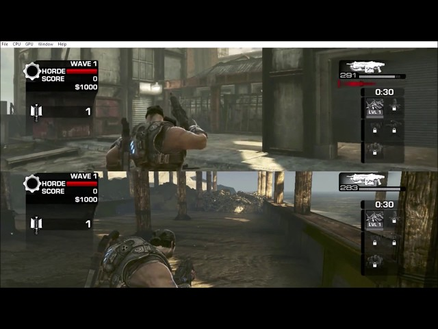 How to play Gears of War 3 split screen on PC with Xenia emulator