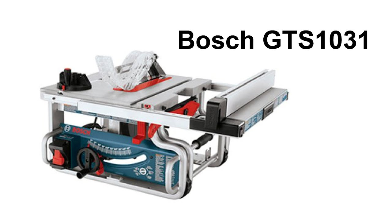 How to Set Up the Bosch GTS1031