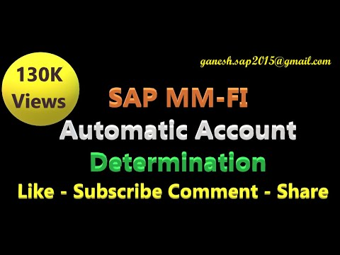 SAP MM-FI Integration - Automatic Account Determination by