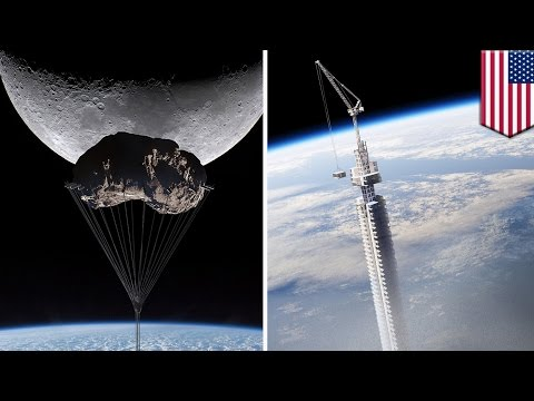 Future buildings: Out of this world skyscraper to hang off orbiting asteroid - TomoNews