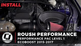 2015-2017 Mustang EcoBoost Install: Roush Level 1 Performance Pac