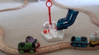 Thomas the Tank Engine and the Kinder Surprise Egg Catapult