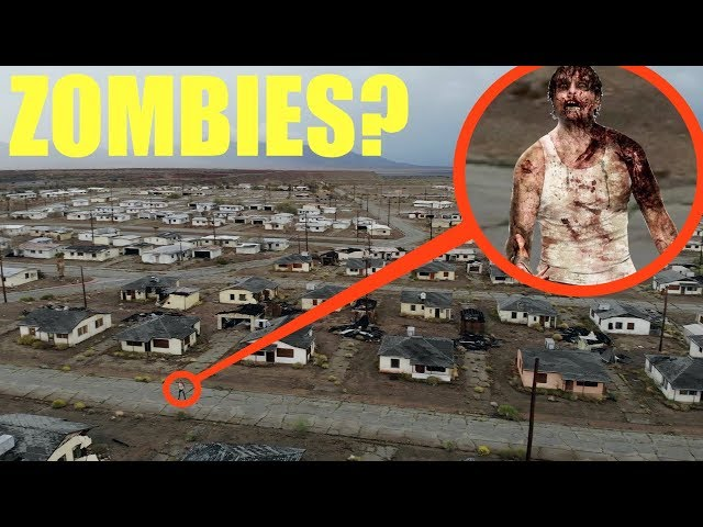 you won't believe what my drone found at this secret desert abandoned Zombie apocalypse ghost town