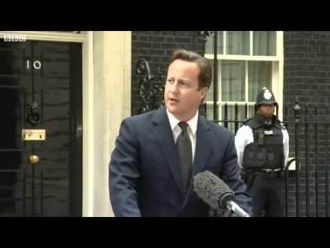 David Cameron Addressees UK Riots