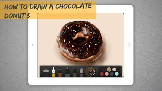 How to draw a chocolate donut